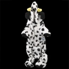Cute Cow Style Pet Dog Costume Apparel 4-Leg Holes - White + Black