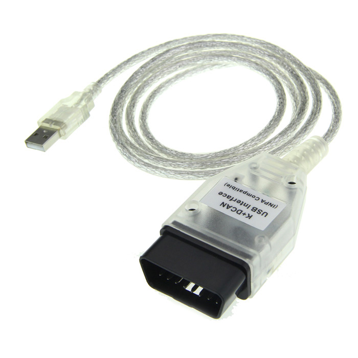 где купить  Diagnostic USB Interface Cable for BMW - Translucent White  дешево