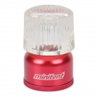 Mini Compact Camping 45-Lumen White LED Light - Red (2xCR2032)