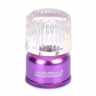 45LM White LED Light Mini Tent Lantern Camping Lamp - Purple + Transparent (2 x CR2032)