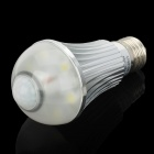 E27 6W 600LM 6000~6700K White 6-LED PIR Sensor Light Lamp Bulb (AC 90~260V)
