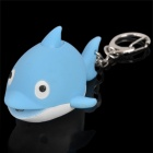 Cute Cartoon Fish Style Keychain w/ LED Illuminating Light & Sound Effects - Blue