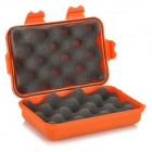 Big Hard ABS Sponge Tool Storage Box - Orange