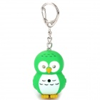 Cute Cartoon Owl Style Keychain w/ Light & Sound Effects - Random Color