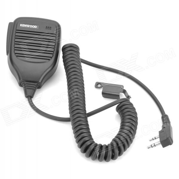 Microphone for Walkie Talkie KMC-21 w/ Clip - Black (2.5mm / 3.5mm Jack)