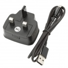 Genuine USB AC Charger w/ Charging Data Cable for Samsung N7000 / i9100 (AC 100~240V / UK Plug)