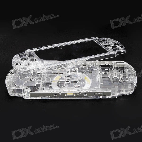 Fully Transparent Replacement Housing for PSP Slim/2000