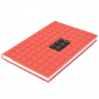 Creative Notebook Notepad with Lego Style Silicone Cover - Random Color (Approx 100 Pages)