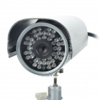 "1/3"" CCD 300KP Network Surveillance IP Camera w/ 48-IR LED Night Vision / WiFi - Silver"