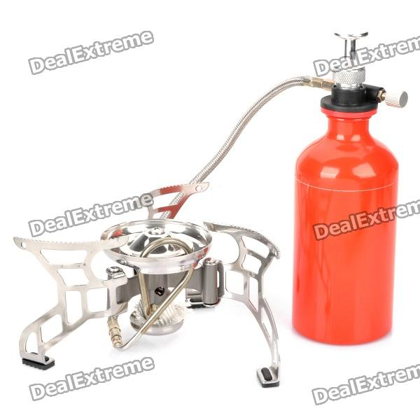 CAMPSOR-10 Split Type Camping Oil/Gas Fuel Stove - Silver + Red ac2010 02 1 4pt smc manual drain type compressing air filter pneumatic gas source processor two joint oil water separator