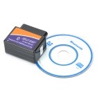 interface de diagnóstico ELM327 Bluetooth V1.5 OBD2 do carro - preto + azul