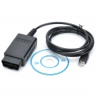 V1.5 OBD2 ELM327 USB CAN-BUS Scanner - Black + Blue