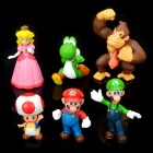 Cute Super Mario PVC Figure Display Toys (6-Piece Pack)