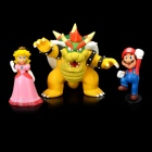 Cute Super Mario PVC Figure Display Toys (3-Piece Pack)
