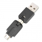 USB Male to Micro USB Male Swivel Adapter/Converter (Black)