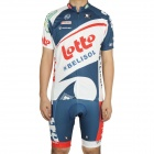 2012 Lotto Belisol Team Short Sleeve Cycling Bicycle Bike Riding Suit Jersey + Shorts Set (Size-L)