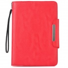 KALAIDENG PU Leather Flip-Open Holder Case for Samsung P6800 - Red