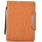 KALAIDENG PU Leather Flip-Open Holder Case for Samsung P6800 - Brown