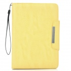 KALAIDENG PU Leather Flip-Open Holder Case for Samsung P6800 - Yellow
