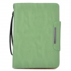 KALAIDENG PU Leather Flip-Open Holder Case for Samsung P6800 - Deep Green
