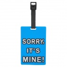 "Secure Travel Suitcase ID Luggage Tag - ""SORRY,IT'S MINE!"" (Powderblue)"