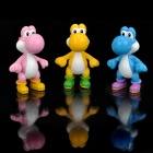 Cute Super Mario PVC Figure Display Toy - Yoshi (3-Piece Pack)