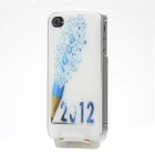 Novel Light-Glowing Protective Case for iPhone 4/4S - 2012 (USB Cable Included)