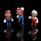 Super Mario Figure PVC Display Toy w/ Base - Mario (3-Piece Pack)