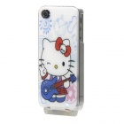 Novel Light-Glowing Protective Case for iPhone 4/4S - Hello Kitty (USB Cable Included)