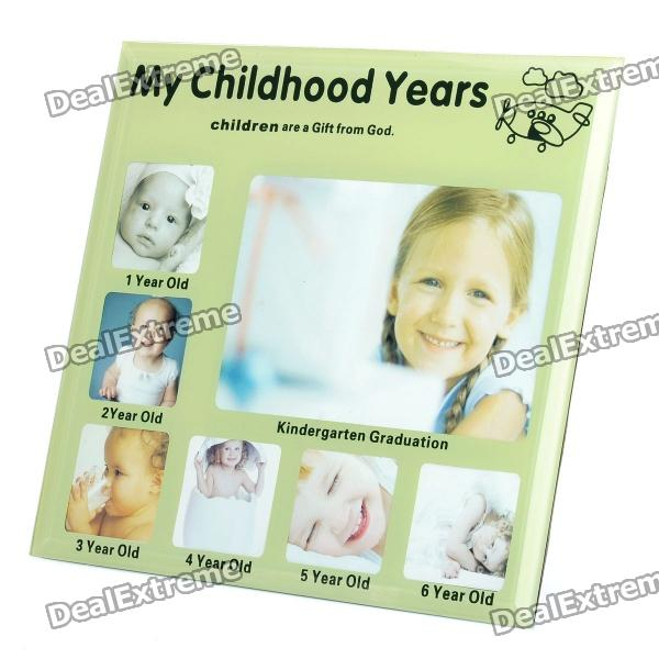 Childhood Memories My Childhood Years Photo Frame - 1~6 Years Old (Green)