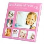 Childhood Memories My Childhood Years Photo Frame - 1~6 Years Old (Deep Pink)