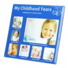 Childhood Memories My Childhood Years Photo Frame - 1~6 Years Old (Blue)