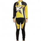 2011 Livestrong Join The Fight Long Sleeve Cycling Riding Suit Jersey + Bib Pants Set (Size-M)