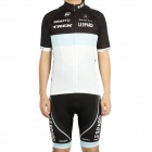 2011 Leopard Trek Team Short Sleeve Cycling Bicycle Riding Suit Jersey + Bib Shorts Set (Size-L)