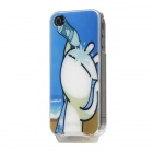 Novel Light-Glowing Protective Case for iPhone 4/4S - Cartoon Tzuki Rabbit (USB Cable Included)