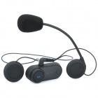 BT Interphone + manos libres bluetooth para el conjunto de la motocicleta - negro (par)