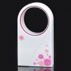 USB/4xAAA Powered Bladeless Fan - White + Pink