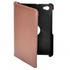 Protective 360 Degree Rotation Holder PU Leather Case for Samsung P6800 - Brown