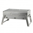 Portable Folding Stainless Steel Drawer Style BBQ Barbecue Grill Stents Set