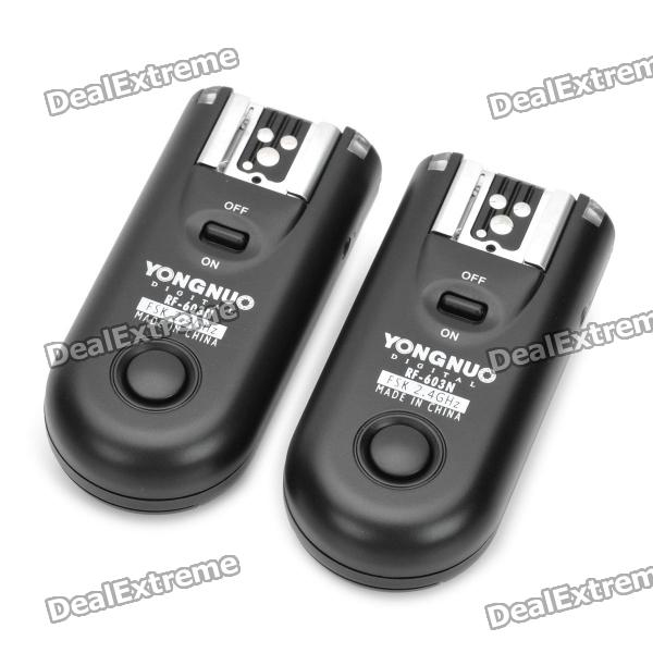 FSK 2.4GHz Wireless Flash Trigger Transmitter Receiver Kit for Nikon D300 + More цена