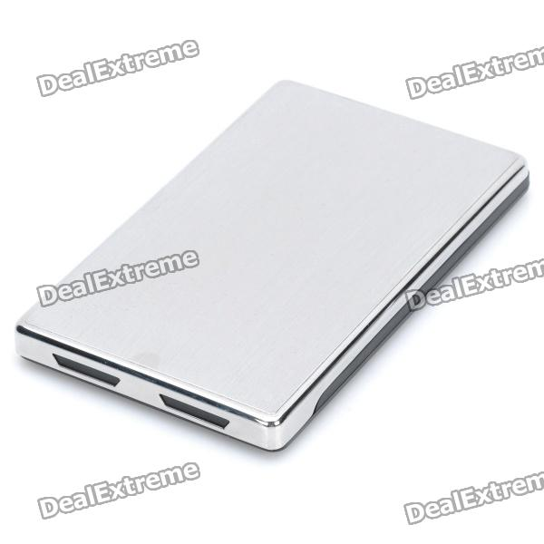 "USB 3.0 Hard Disk Drive Enclosure for 2.5"" SATA HDD - Black + Silver"