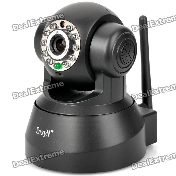 FS-M136 Motion-JPEG 802.11b/g 300KP CMOS Network Surveillance IP Camera w/ 10-IR LED - Black