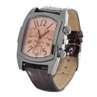 Stylish Men's Rectangle Dial Wrist Watch - Brown (1 x LR626)
