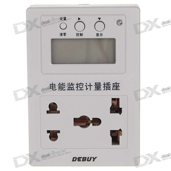 Digital Utility AC Power Consumption Monitor and Timer (AC 220V 10A)