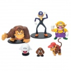 Cute Resin Super Mario Figure Dolls Toys Set (6-Pack)