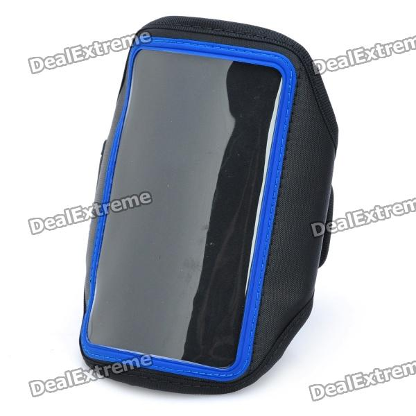 Sporty Armband for Samsung Galaxy Note i9220 - Black + Blue