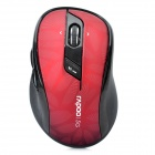 RAPOO 7100P 500 / 1000DPI 5.8GHz Wireless USB Optical Mouse - Red + Black (2 x AA)