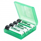 Soshine 2700mAh Ni-MH Rechargeable AA Batteries with Case (4-Battery Pack)