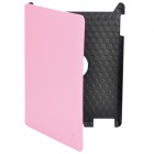 Fashion Protective Rotating Case for New Ipad - Pink