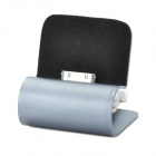Retractable USB Cable Charging Dock Station for iPhone 4 / 4S - Silver Grey